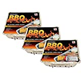 Sparklen Disposable Grill BBQ 3 Pack: Aluminum Portable Disposable Charcoal Grills, Great for Grilling On The Go, 8.5 X 10.75 inch Each