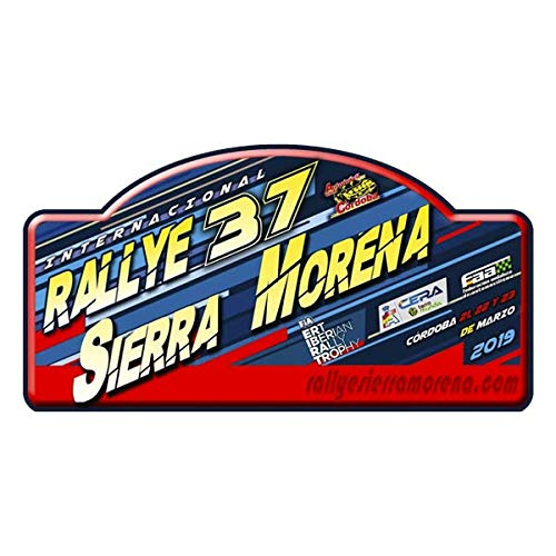 Pegatina Placa Rallye Sierra Morena 2019 Adhesivos VINILOS Coche Motor PR283