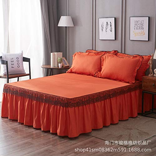 huyiming Verwendet für koreanische Version Lace Bett Kleid Einzelbett gesetzt Doppelbettdecke, rutschfeste Bett Rock 1,5 m Bett: 150 x 200 cm