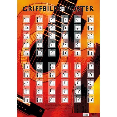 Voggenreiter Griffbild Poster Gitarre