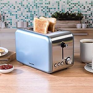 Salter Metallics Polaris 2-Slice Toaster, 850 W, Pearl Blue