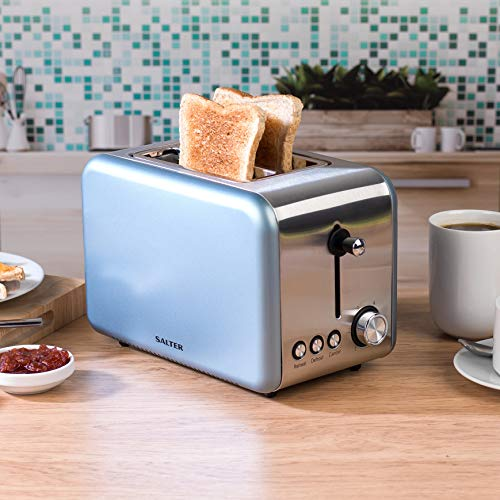Salter Metallics Polaris 2-Slice Toaster, 850 W, Pearl Blue