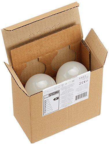 AmazonBasics Lampadina LED E27, 14W (equivalenti a 100W), Luce Bianca Fredda - Pacco da 2