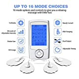 Kunova (TM) Rechargeable TENS Unit + EMS Muscle Stimulator, Dual Independent Channels With