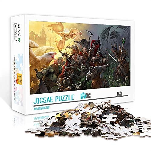 (Difícil) mini rompecabezas para adultos 1000 piezas Heroes of Might and Magic 4 Jigsaw Puzzle Game Juegos educativos Entretenimiento Regalo 38x26cm (Rompecabezas de papel)
