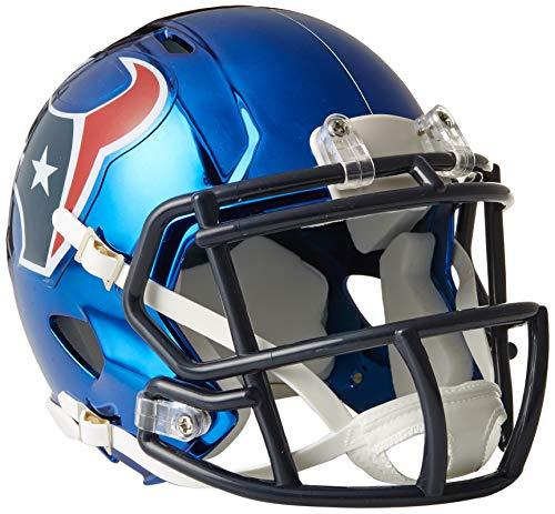 Riddell Speed NFL HOUSTON TEXANS Football Helmet Chrome Mini Chrome Football Retail Box
