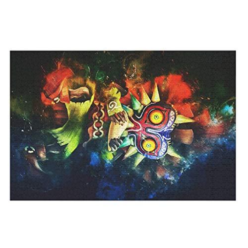 O5KFD&8 Puzzle de cráneo Zel-da Ma-joras, 200/300/500/1000 piezas, regalo educativo, puzle para adultos y niños, color blanco, 300 piezas