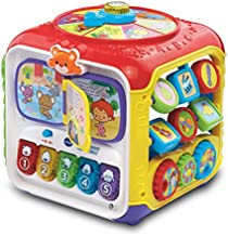 VTech Sort and Discover Activity Cube (Frustration Free Packaging), Great Gift For Kids, Toddlers, Toy for Boys and Girls, Ages 1, 2, 3