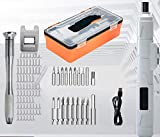 Conjunto de herramientas eléctricas Conjunto herramientas giratorias inalámbricas cable rotativa 88 accesorios Kit rotativas 3,6 V50 RPM 250 RPM LED Mini molinillo eléctrico cable carga USB