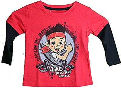 Disney Jake and The Neverland Pirates Layered Long Sleeve Toddler T-Shirt (4T)