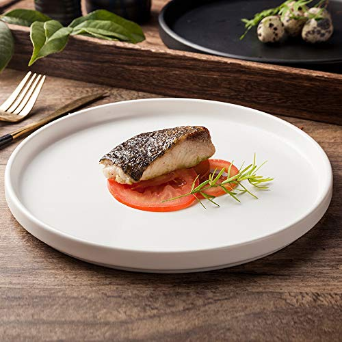 SUNXK Japanse keramische servies hotel restaurant beschikt over steak fondue dessert schotel mat wit keramische ronde schaal