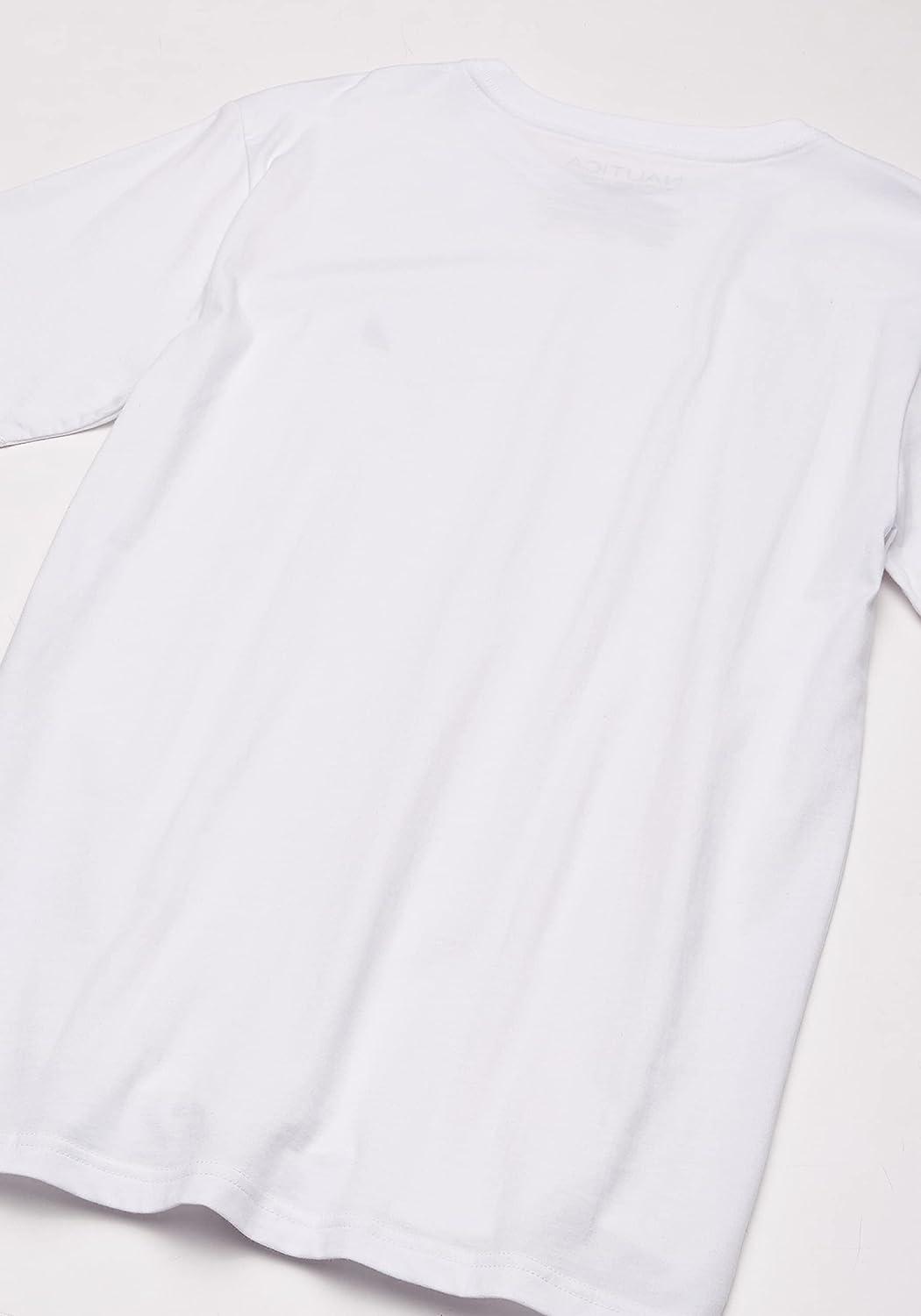 Nautica Boys' Short Sleeve Solid V-Neck T-Shirt