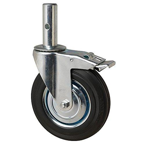 WOLFPACK LINEA PROFESIONAL 11110155 Rueda Industrial Andamio (Macho) 200 mm