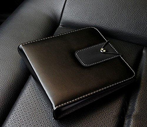 ATIDY® CD/DVD 20 Kapazität Ledertasche, CD Tasche Bestnote tragbare CD Wallet Disc Halter für Auto, Büro, Zuhause oder auf Reisen CD Sleeves