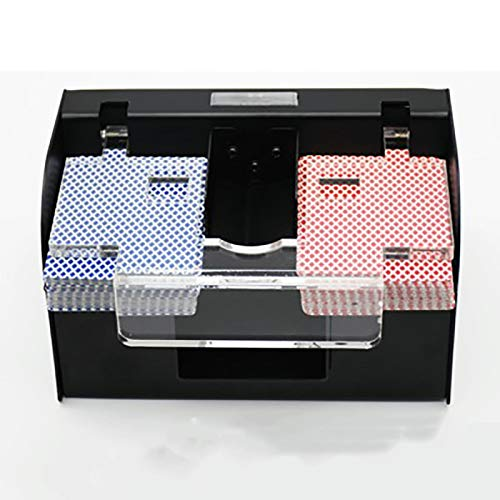 IPRE Automatic Card Shuffler, Metal Low Noise Card Shuffler Machine Poker Electronic Professional Card Shuffler (Black)