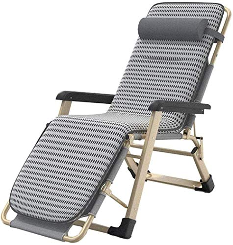 Household products Sunloungers Patio Lounge Recliners Chair Outdoor Zero Gravity Adjustable Folding Lawn Lounger Chairs with Cushion for Deck Beach Patio Pool Support 330lbs