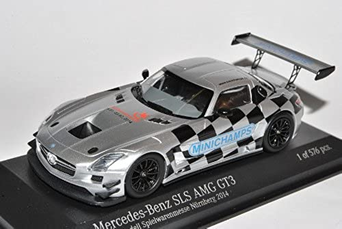 Minichamps Mercedes-Benz SLS AMG GT3 2014 Spielwarenmesse Nürnberg 1 43 Modell Auto mit individiuellem Wunschkennzeichen