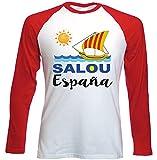 teesquare1st SALOU Spain Camiseta DE Mangas ROJA LARGAS T-Shirt Size Xxlarge