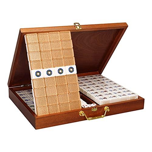 Qks 144 tuiles Maison décontracté Mahjong tuiles Portable...