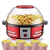 palomitero Máquina de palomitas de maíz con desmontable climatizada de superficie Revestimiento antiadherente Tapa for...