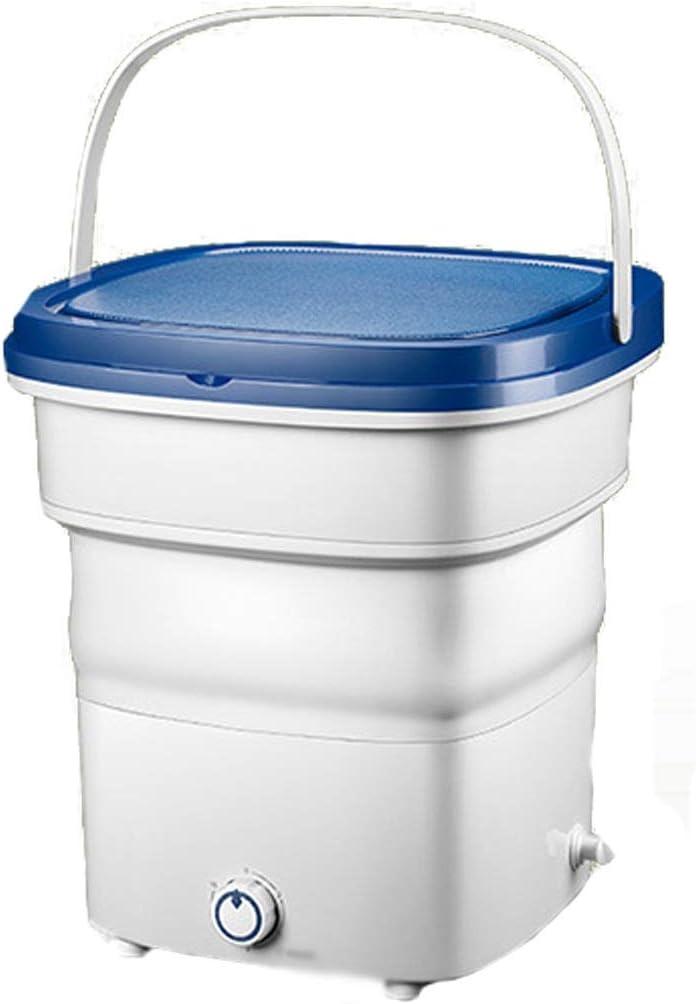 Mini Lavadora Plegable,Lavadora Portatil,Lavadora Camping,Tina De Lavanderia Plegable para Ropa Interior Femenina/Ropa Infantil (Color : Blue, Size : 36 * 36 * 38cm)