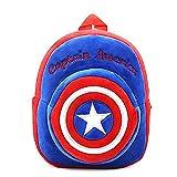 KIDDYBO Sac à Dos Enfant bébé Fille garçon crèche école Maternelle Cartable Animaux (Captain America)