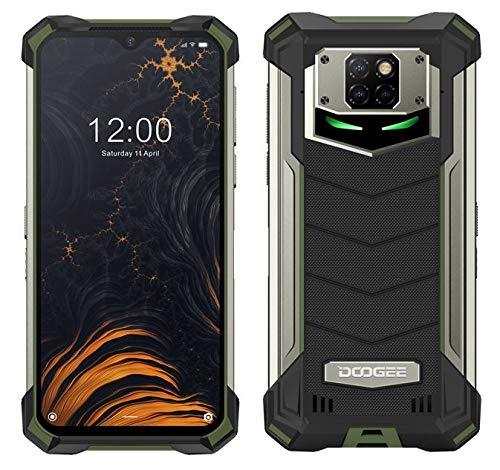 DOOGEE S88 PRO 10000mAh Akku Outdoor Smartphone Ohne Vertrag, Octa-Core 6GB+128GB Android 10, 21MP Quad-Kamera, 6,3-Zoll-FHD + Corning Gorilla-Glas, Drahtlose Rückladung, IP68 Robustes Handy Grün