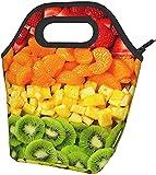 Frutta Arcobaleno Stampato Il Pranzo Isolato Box Ampio Pranzo Tote Pranzo Tote Bag - Leggero, Isolato E Riutilizzabili