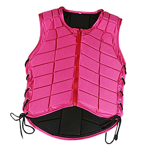 Baosity Safety Horse Riding Vest Equestrian Protective Gear Waistcoat for Children Youth Mens Womens - Pink, Kids-S