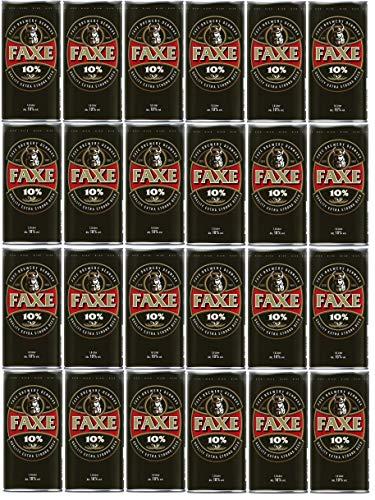 24 Dosen Faxe Strong a 1 Liter 10% vol. Dänisches Starkbier inklusive EINWEG Pfand