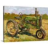 Rustic Tractors I Canvas Wall Art Print, Agriculture Artwork
