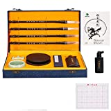 Corciosy Chinese Calligraphy Brushes Gift Set,Professional Sumi Water Writing, Painting Set for Beginners