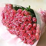 [ビズフラワー]【花束 バラ100本】ピンク 薔薇 お祝い 誕生日 記念日 大切な日 BisesFlower