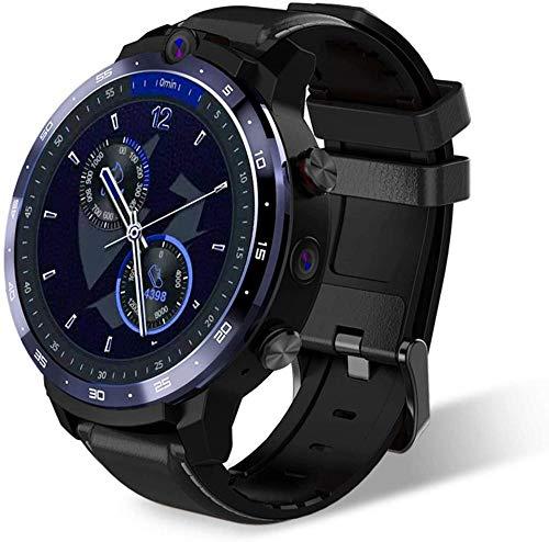 TYUI Reloj deportivo inteligente 3+32 GB Android pantalla grande con desbloqueo facial Cámara dual posicionamiento GPS WIFI4G Smart Watch compatible con Android A