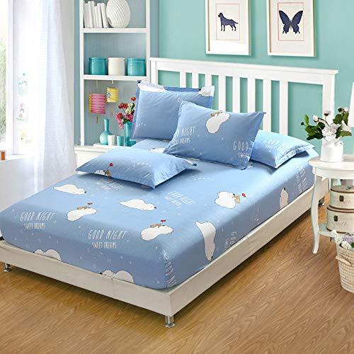 huyiming Verwendet für Bettlaken Einzelstück 100 gedruckt rutschfeste Matratzenbezug Studentenwohnheim Tagesdecke 90X200cmcm