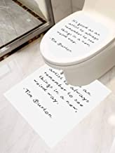 Toilet Decals Toilet Paste Set 2 Tim Burton Artist Quotes and Saying Grow Sticker Decal