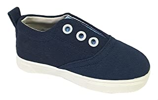 Skippy Two-Tone Elastic-Panel Round-Toe Slip on Sneakers for Girls