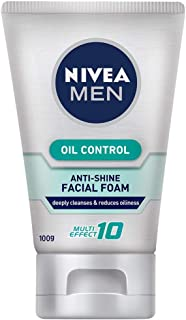 Nivea For Men Oil Control Facial Foam 100g-relieve inflammation while reducing acne problems.