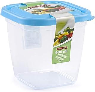 Plastic Forte 600 ml Square Food-11549 (Multicolor)