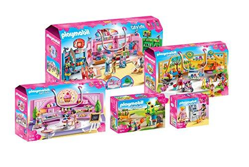 Playmobil 5-teiliges Setangebot: Einkaufspassage Shopping-Girls