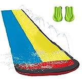 Wasserrutsche mit Surfbrett,16 Fuß Double Racing Lane Slip,Double Racing Slides,Speed Blast...