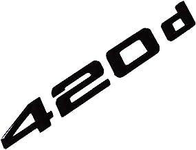 MCK Auto 220d Negro Brillante Parte Trasera Logo Back Badge Emblema Tuning para F22 F45 F46 HB2L2
