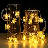 Beer Mug String Lights St Patrick's Day 10ft 20 LED with Remote Control USB for Bar Christmas Birthday Wedding Party Bedroom Dorm Wreath Summer Club Decorations (Style-2)
