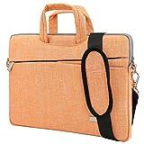 BingGoGo Laptop Bag 15.6 Inch Briefcase Shoulder Bags,Water Repellent Laptop Bag Briefcases Bussiness Carrying,Compatible Ultrabook MacBook 15.6 Inch Laptop Sleeves (15.6 Inch,Orange)