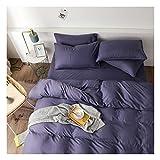 AMDXD Juego de 4 fundas de almohada de poliéster, color morado, sábana y funda de almohada (1 funda de edredón de 150 x 200 cm, 1 sábana de 200 x 230 cm, 2 fundas de almohada de 48 x 74 cm).