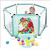 Bed Rails Nan Liang Kids 6-Panel Playard Playpen Malla Transpirable portátil para bebés, Juegos en Interiores y Exteriores (Color : Azul)