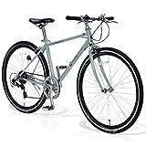 FORTINA(フォルティナ) FT5007 クロスバイク 700C シマノ 7段変速付 軽量設計 自転車 フレームサイズ430 エアロリム クイックレリーズ 高さ調整ハンドル 男女兼用(ベリルカーキ)