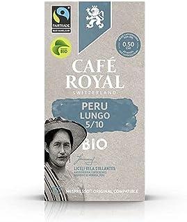 Café Royal Peru Lungo BIO Havelaar 100 Capsules de café compatibles avec le système Nespresso; (Lot de 10X10)
