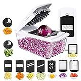 Tatufy Mandoline Cuisine, 10 en 1 Coupe-Fruits Coupe-légumes, Coupe-légumes Muti Cutter avec insertions de Couteaux Gant(Ne Peut Pas être utilisé pour Le Nettoyage du Lave-Vaisselle!)