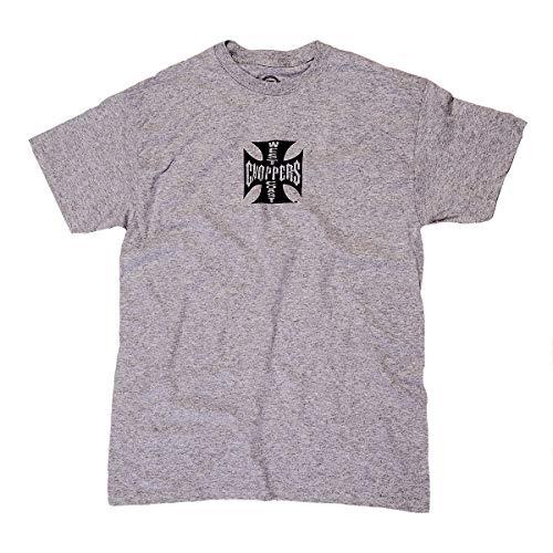 WEST COAST CHOPPERS Herren T-Shirt Cross ATX Grey/Black, Größe:L, Farbe:Grey/Black